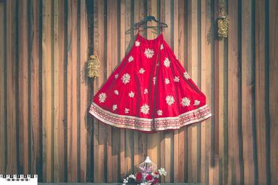 Happy frames photography wedding lehenga shot