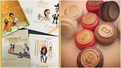 Yuvraj and hazel invites and wedding favour 3