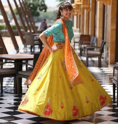 Silk lehenga  badal raja photography   winter wedding fashion 13