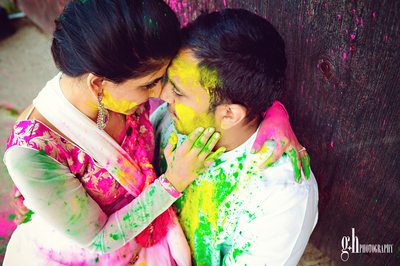 Pre wedding shoot on holi  shaadisaga blog