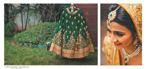 Green lehenga with gold embroidery bridal lehenga for wedding day