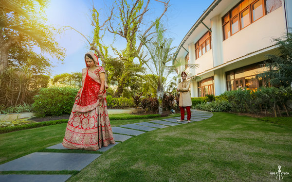 Disha and ashwini wedding portrait session at gulmohar check
