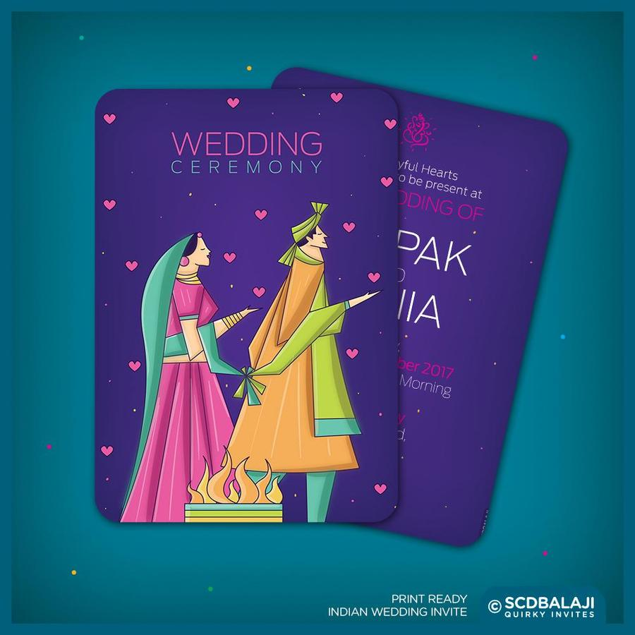 S C D B A L A J I - Quirky Invites | Wedding Invitations in ...